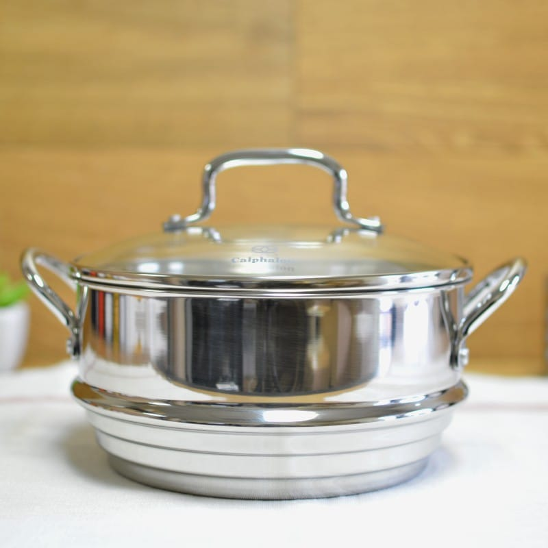 カルファロン 蒸し器 Calphalon Stainless Steel Universal Steamer Insert with Lid A2100