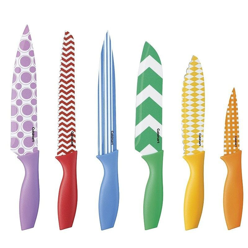 クイジナート マルチカラー ナイフセット 6点 Cuisinart Printed Color Knife Set with Blade Guards, Multicolored