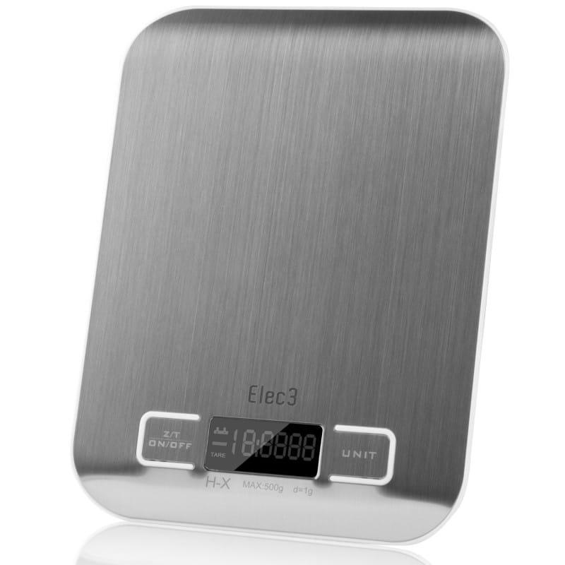デジタル マルチファンクション キッチンスケール 計量器 5kgまで Elec3 Digital Multifunction Kitchen and Food Scale