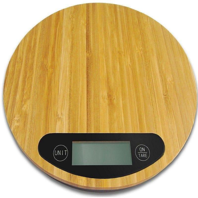 デジタルキッチンスケール 計量器 竹 Food Scale By Alpha Armour Stylish Digital Kitchen Scale