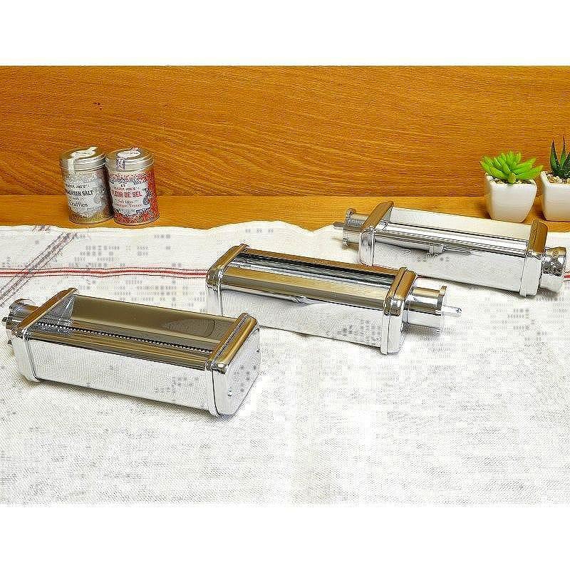スメッグ パスタ用 スタンドミキサー付属品 3点セット Smeg Pasta Roller and Cutter Set for Stand Mixer SMPC01