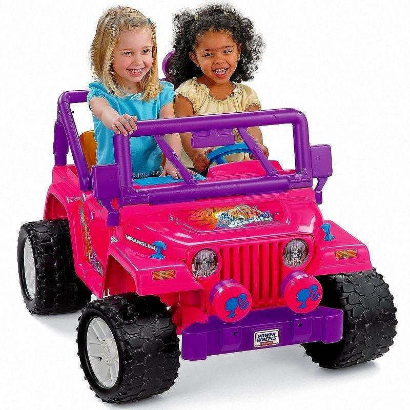 【組立要】 フィッシャープライス パワーホイールパープルバービージャミン ジープ 電動自動車 12Vバッテリー付 電気自動車 Fisher-Price Power Wheels Purple Barbie Jammin' Jeep 12-Volt Battery-Powered Ride-On