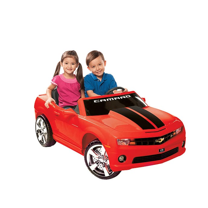 【組立要】シボレー カマロ レッド 子供用電動自動車 12Vバッテリー付 電気自動車 電動カー NPL Chevrolet Camaro 12 Volt Car Riding Toy Red