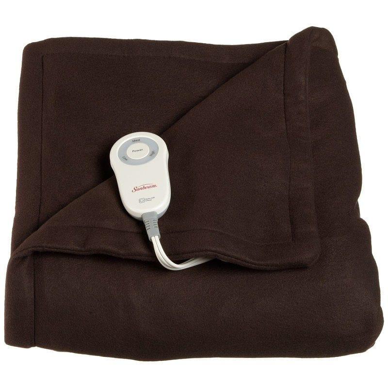 サンビーム 電気毛布 ヒートブランケットSunbeam Fleece Heated Throw Blanket