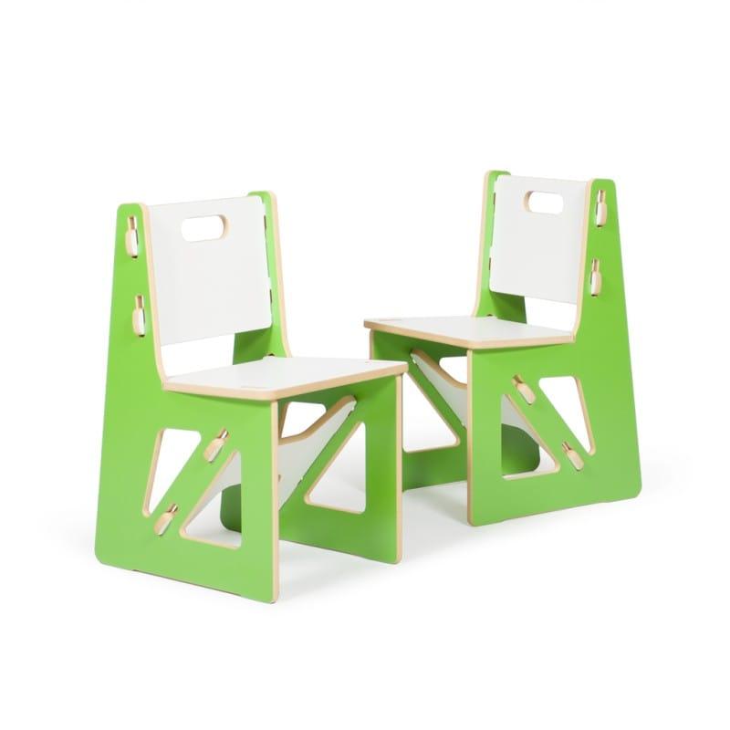 子供用椅子 キッズチェアー グリーン 2脚 Kid's Chair Sprout