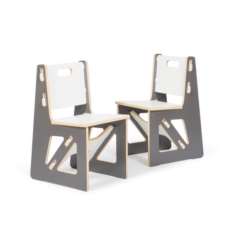 子供用椅子 キッズチェアー グレイ2脚Kid's Chair Sprout