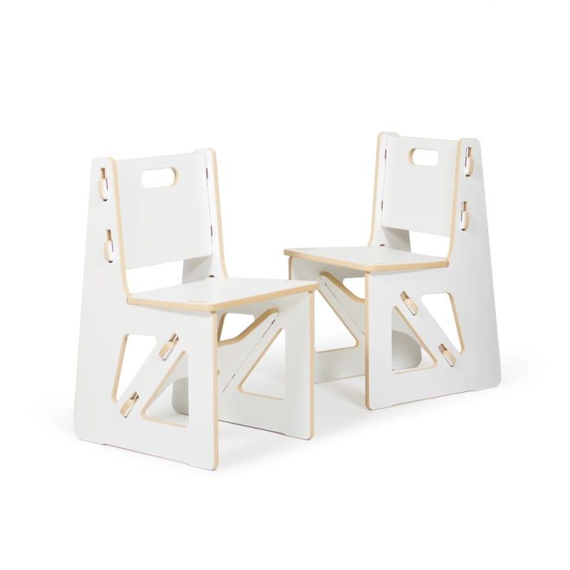 子供用椅子 キッズチェアー ホワイト 2脚 Kid's Chair Sprout