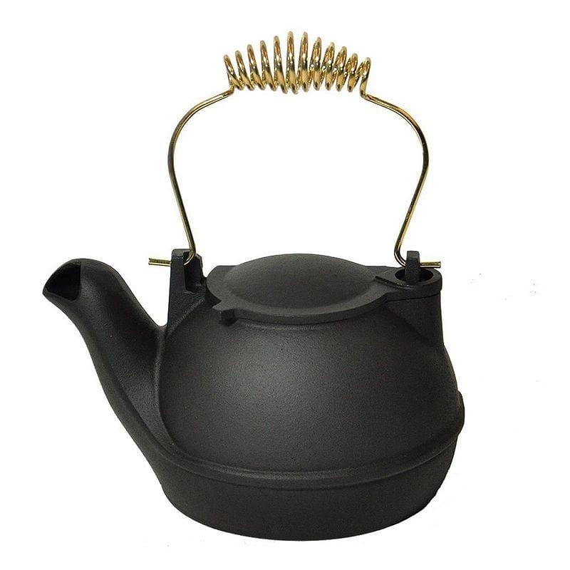 ケトル やかん 半分 1.6L Black Half Kettle - Brass Handle