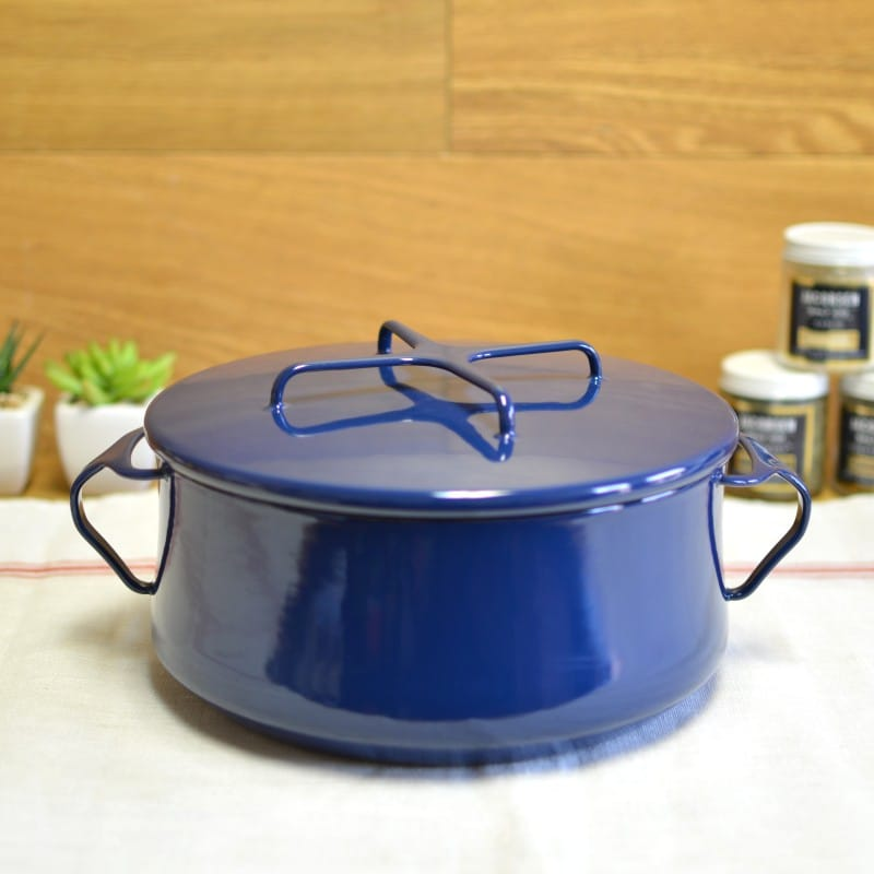 ダンスク コベンスタイル 両手鍋 青 直径23cm 3.8LDansk Kobenstyle Blue 4 Quart Casserole