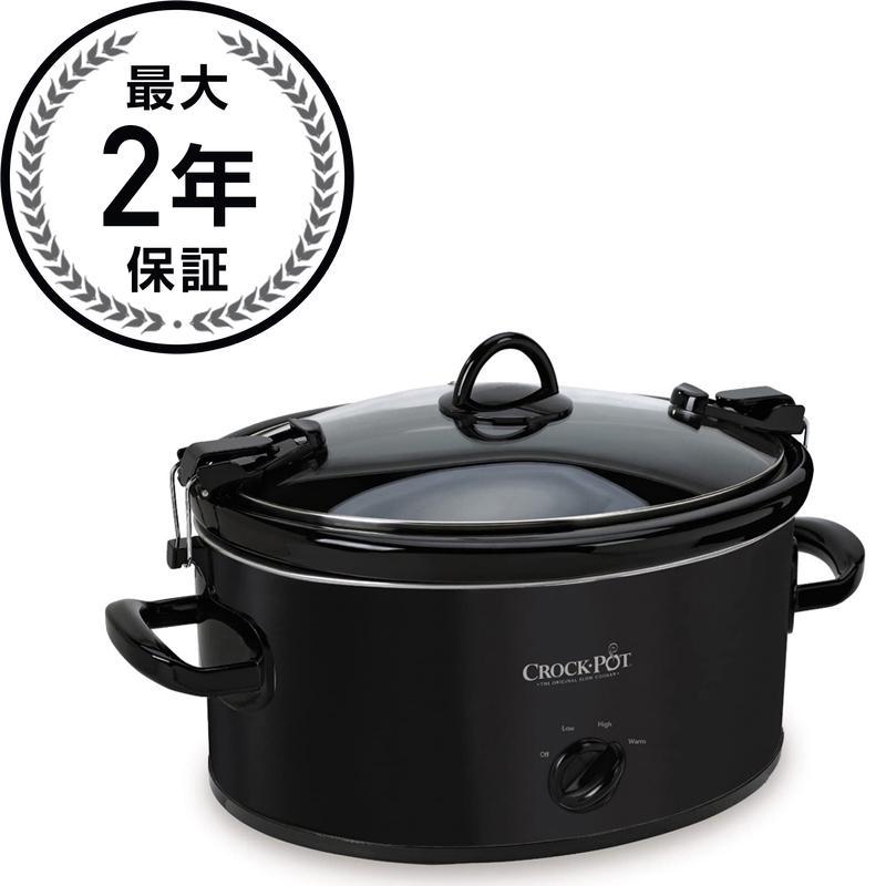 クロックポット スロークッカー Crock-Pot SCCPVL600-B Slow Cooker, 6-Quart, Black 家電
