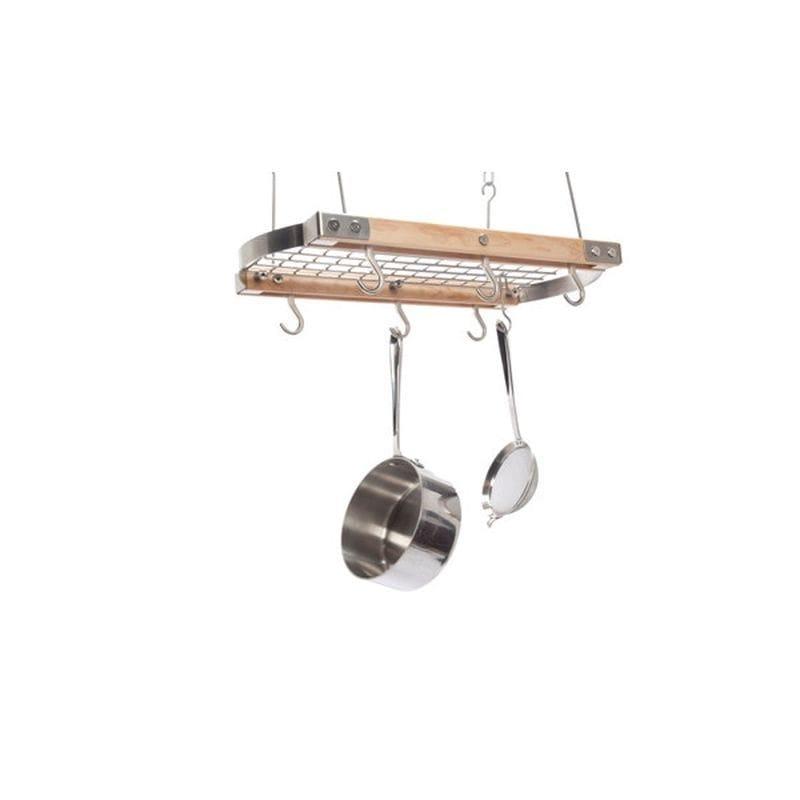 ポットラック 鍋かけ 天井につるすタイプ J.K. Adams Mini Gray Oval Ceiling Hanging Pot Rack PRC-24