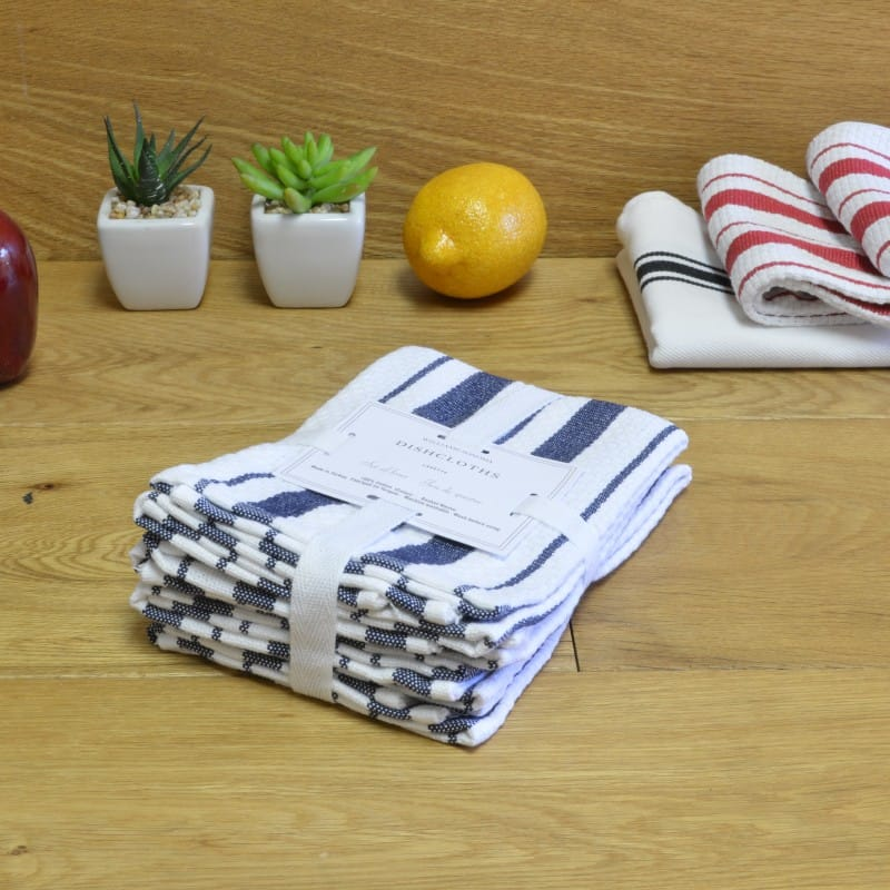 Williams Sonoma Dish Cloth Towels 4 Piece Set 38 Cm Striped Dishcloths Of