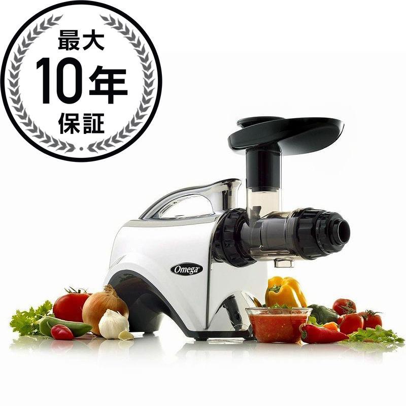 オメガ スロージューサー ブラック/クロムOmega NC900HDC 6th Generation Nutrition Center Electric Juicer, Chrome 家電