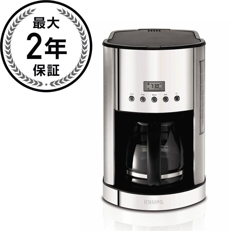 クラップス ブレックファーストセット コーヒーメーカー 12カップ ステンレス KRUPS KM730D Coffee Maker Stainless, 12-Cup, Silver 家電