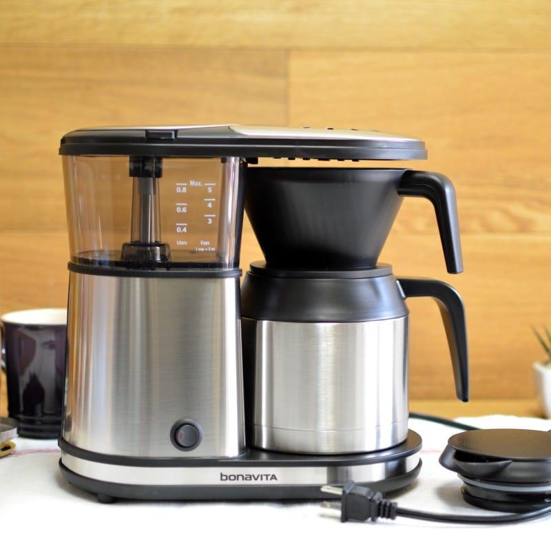ボナビータ 5カップ コーヒーメーカー ステンレスBonavita BV1500TS 5-Cup Carafe Coffee Brewer 家電