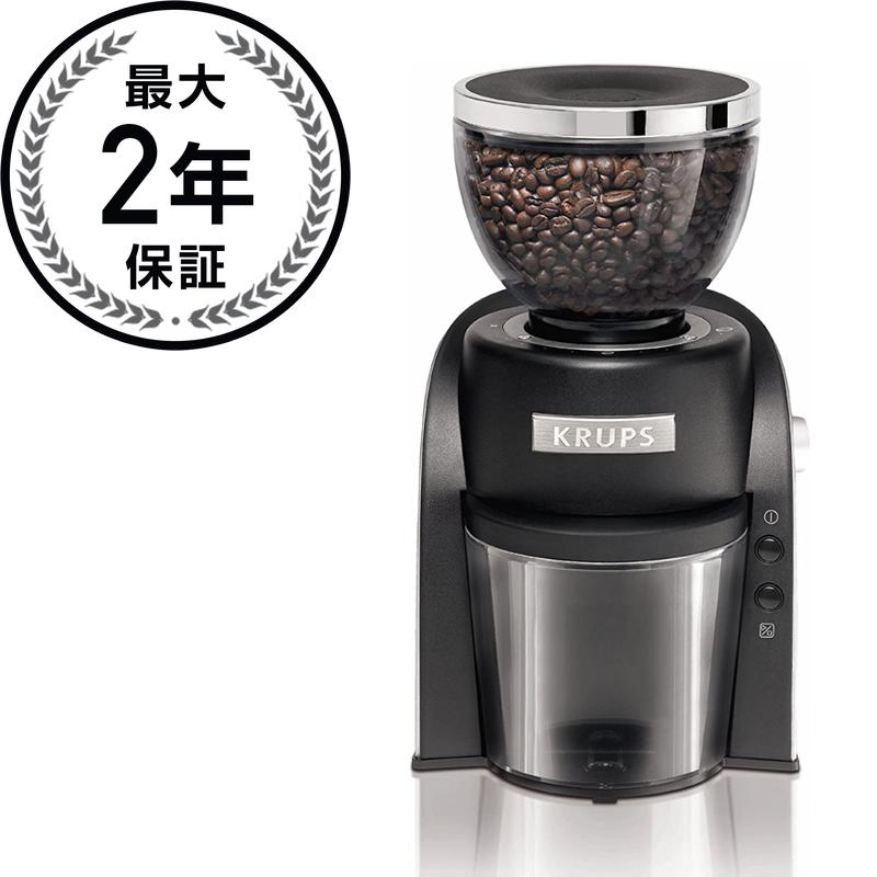 クラップス GX6000 コーヒーグラインダー 豆挽きKrups GX6000 Conical Burr Coffee Grinder with Grind Size and Cup Selection, Black 家電