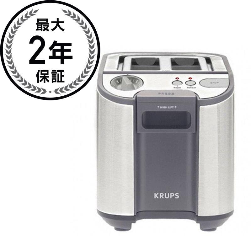 クラップス KH7003 トースター(2枚) ステンレススチールKrups KH7003 Precision Stainless-Steel 900-Watt 2-Slice Toaster
