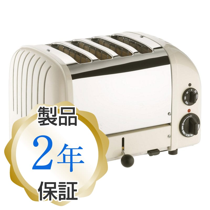 デュアリット 4枚焼き クラシックトースター キャンバスホワイトDualit 4 Slice Classic Toaster, Canvas White