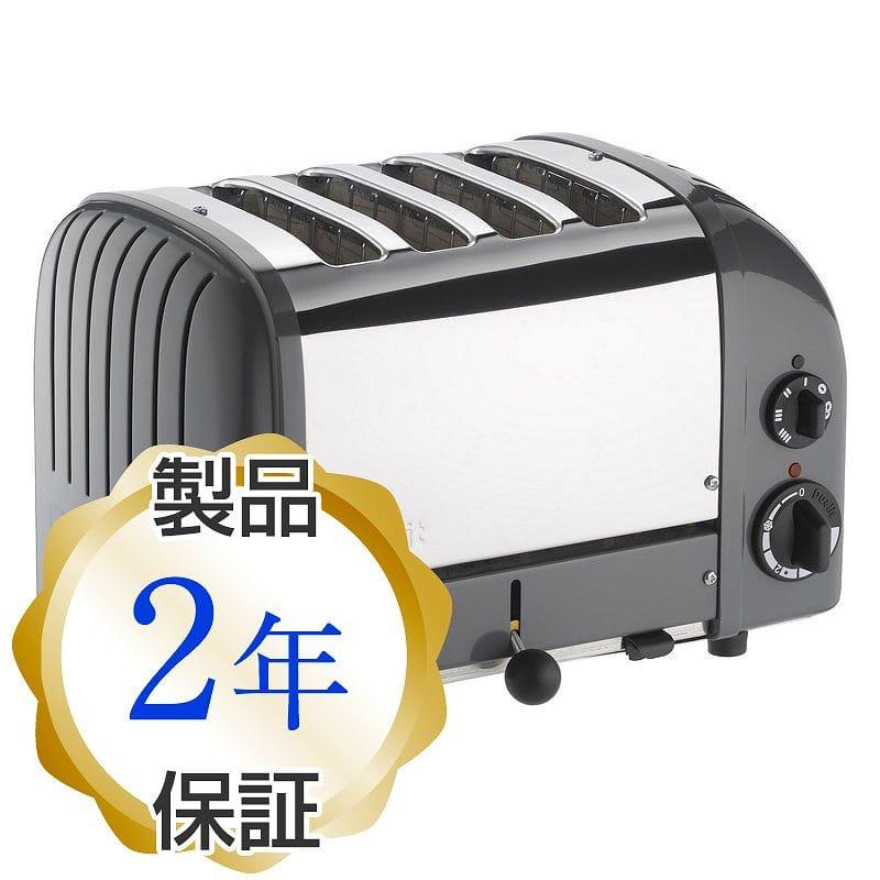 デュアリット 4枚焼き クラシックトースター コブルグレーDualit 4 Slice Classic Toaster, Cobble Gray