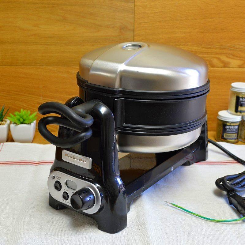 kitchenaid pro line waffle maker double kitchenaid pro line series waffle baker kpwb100ob - Kitchen Aid Waffle Makers
