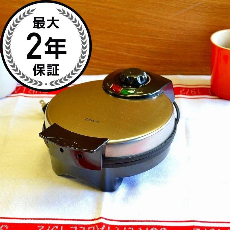 オスター ワッフルメーカー4枚焼 丸型 クロム Oster CKSTWF2000 Belgian Waffle Maker 家電