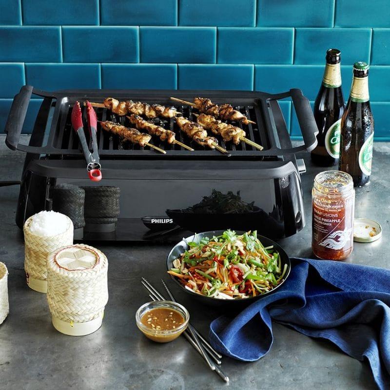 필립스 훈제 리스 그릴 핫 플레이트 BBQ Philips Smoke-Less Grill