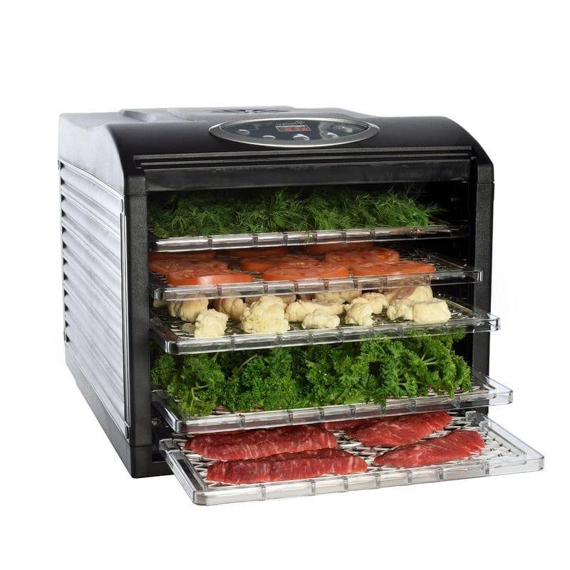 食品乾燥器 ディハイドレーター 6トレイ 19時間タイマー付 Ivation Electric Countertop Food Dehydrator