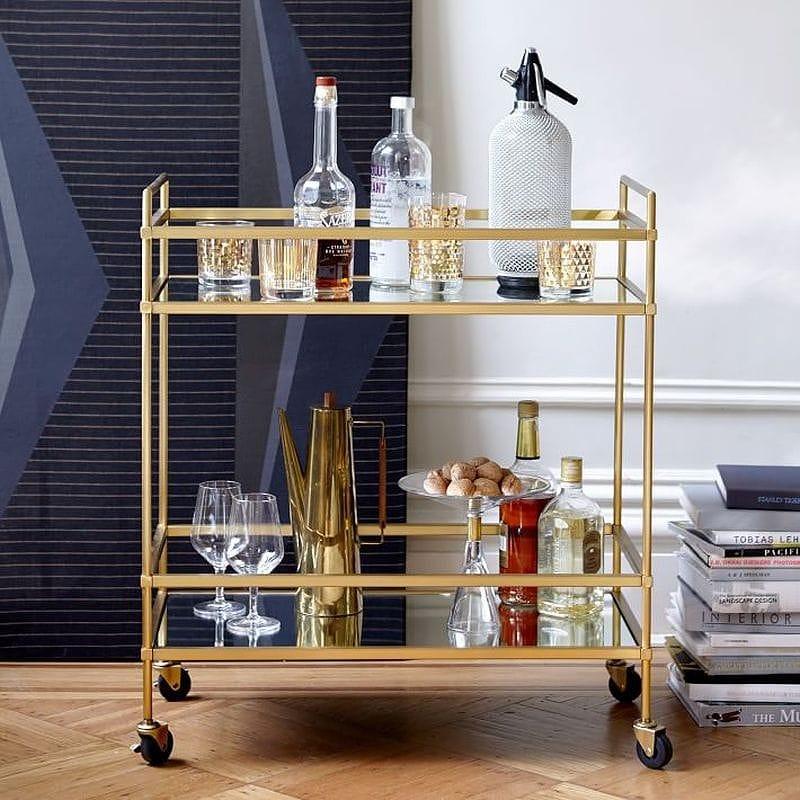 キッチン ワゴン キャスター付 テラス バー カート Terrace Bar Cart