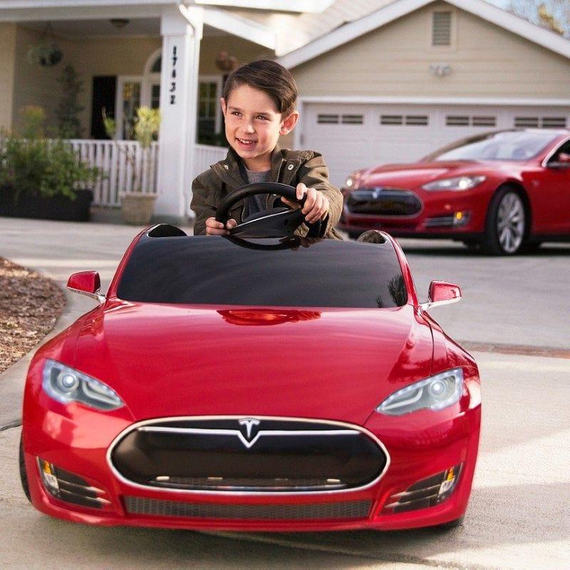 テスラ 子供用電気自動車 電動自動車 バッテリーTesla model S for kids 家電【組立要】【代引不可】