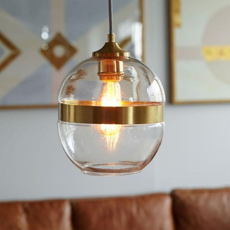 ランプ ライト ペンダントライト Banded Glass Pendant