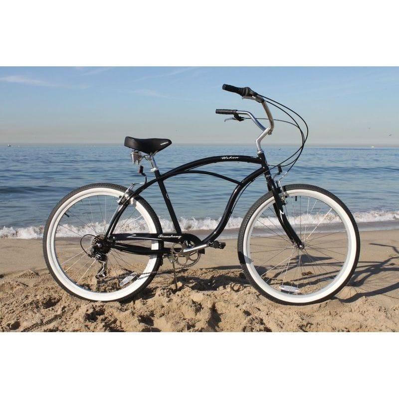 """비치 크루저 남성용 자전거 26 인치 7 속도 Firmstrong Urban Man Beach Cruiser Bicycle 26 """"/7-Speed"""