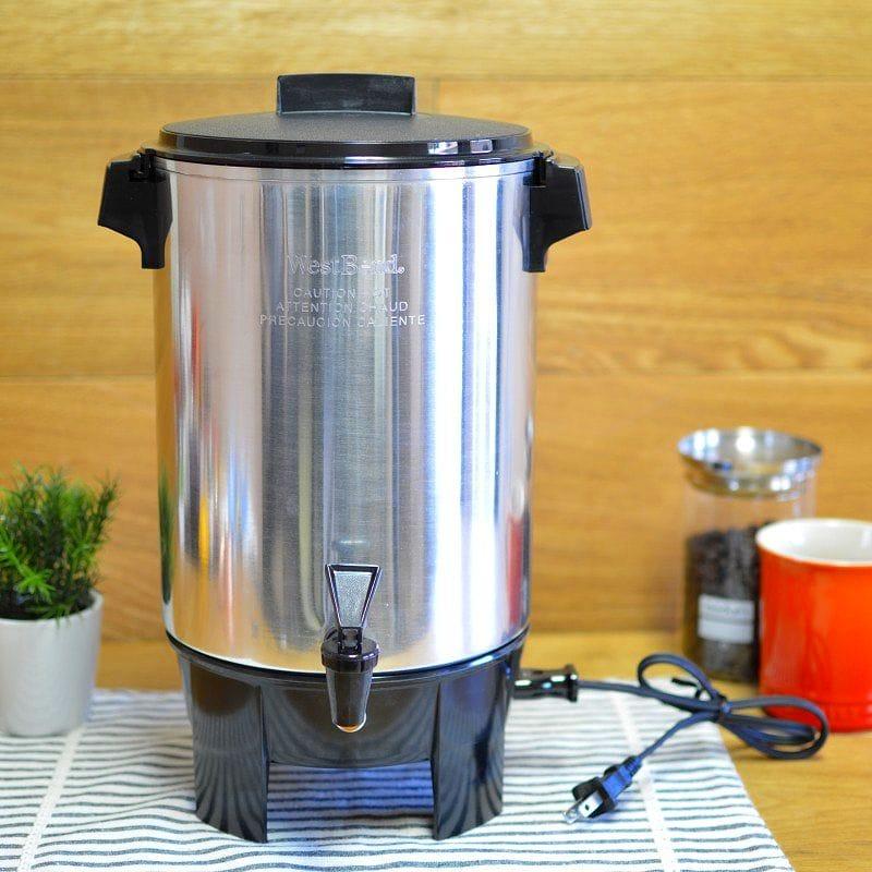 ウエストベンド コーヒーメーカー パーティ ホテル用 West Bend 58030 12-30 Automatic Party Perk【日本語説明書付】 家電