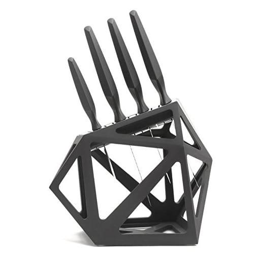 オニキスセラミックナイフ 5本セット&ナイフブロック 5-Piece Onyx Ceramic Chef Knife Cutlery Set & Black Diamond Knife Block
