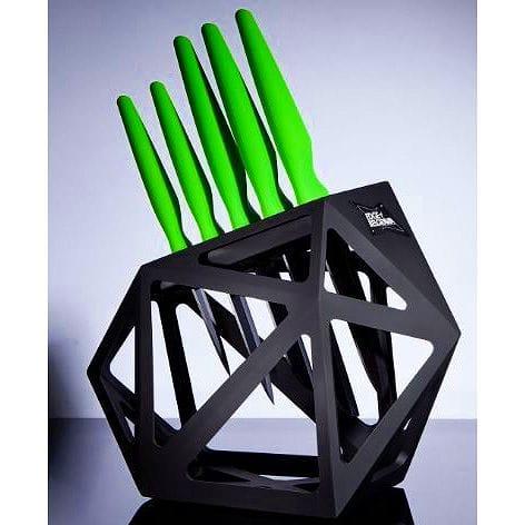 セラミックライムナイフ 5本セット&ナイフブロックKnife Block Set With 5 Piece Ceramic Kitchen Knives