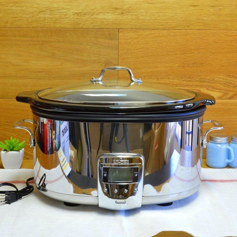 オールクラッド スロークッカー 約6L 煮込み鍋 内鍋(セラミック)  All-Clad SD700450 Programmable Oval-Shaped Slow Cooker 6.5-Quart 家電