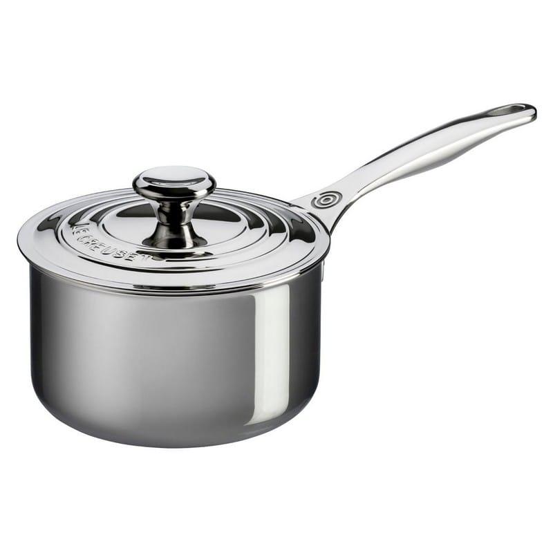 ルクルーゼ ステンレス ソース鍋 1.89L 2.83L 3.78L Le Creuset Tri-Ply Stainless Steel Saucepan with Lid