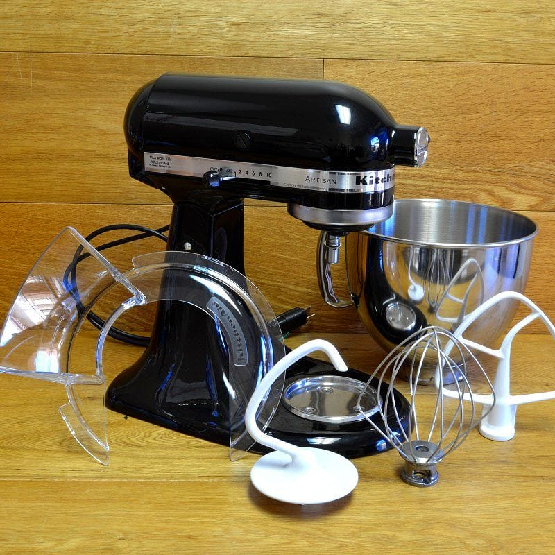 Kitchen aid stands mixer artisan 4.8L onyx black KitchenAid Artisan 5-Quart  Stand Mixers KSM150PSOB Onyx Black household appliance
