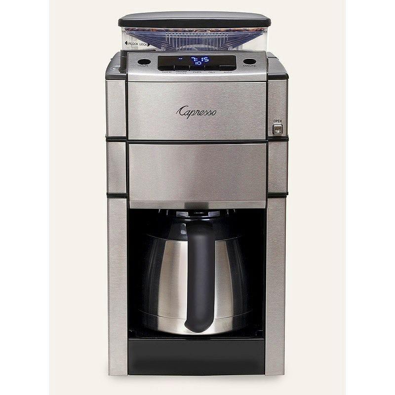 カプレッソ コーヒーメーカー 豆挽き付 10カップ ステンレスカラフェ Coffee Capresso 488.05 Plus Team 家電 Pro Plus Thermal Carafe Coffee Maker 家電, 防災ショップやしま:ae753e73 --- sunward.msk.ru