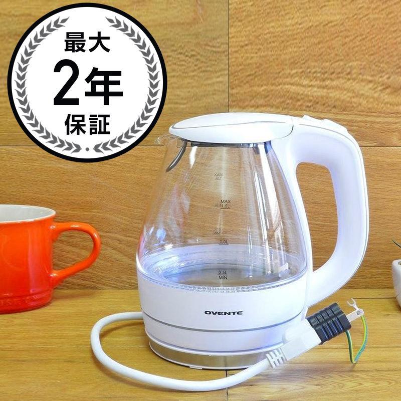 ガラス電気ケトル コードレス電気ケトル 1.5LOvente KG83 Series 1.5L Glass Electric Kettle 家電