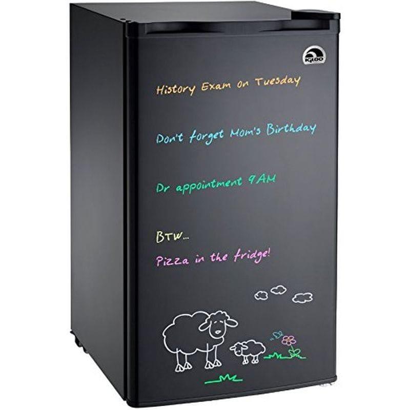 30日間返金保証 送料無料 メッセージボード付 イグルー コンパクト 冷蔵庫 85L Board Erase FR326M-D-BLACK 家電 オンライン限定商品 Refrigerator !超美品再入荷品質至上! Igloo
