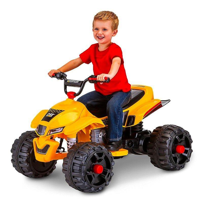【組立要】キッド・トラックス CAT ATV 12ボルト バッテリー付電動自動車 対象年齢3才~ 電気自動車 電動カー Kid Trax Caterpillar 12V Power Quad Ride On