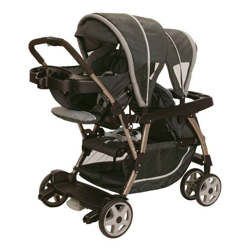 Twin Stroller Tandem Around Two Seat Graco Duoglider Classic Connect Stroller Dragonfly