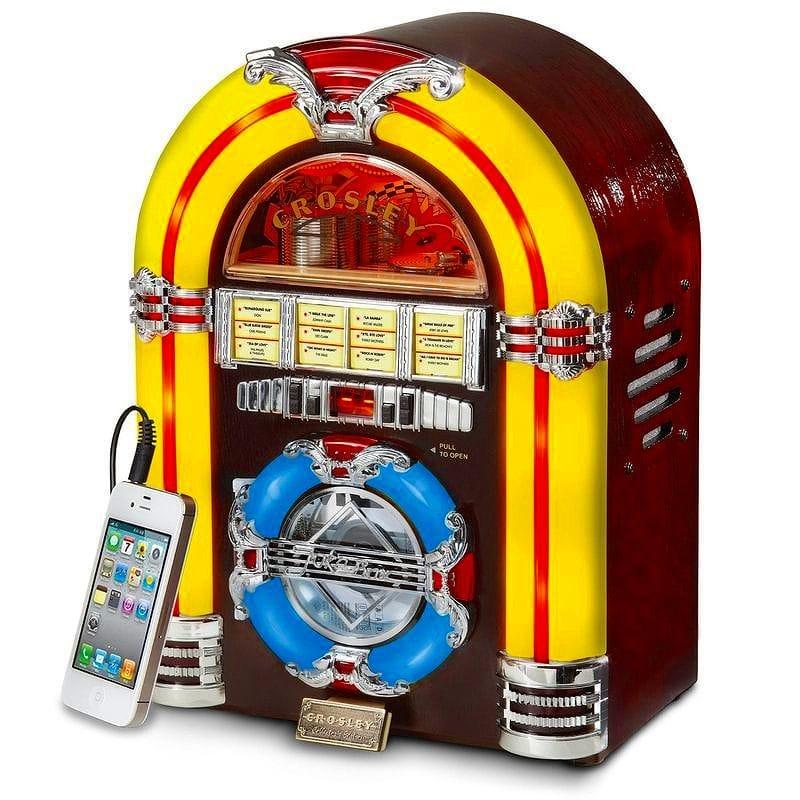 クロスリー ジュークボックス CD プレーヤー LED 照明 チェリーCrosley CR1101A-CH Jukebox with CD Player and LED Lighting, Cherry 家電