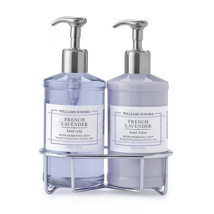 ウィリアムズソノマ デラックスハンドソープ&ローションセット フレンチラベンダー Williams-Sonoma French Lavender Deluxe Hand Soap & Lotion Set with Caddy