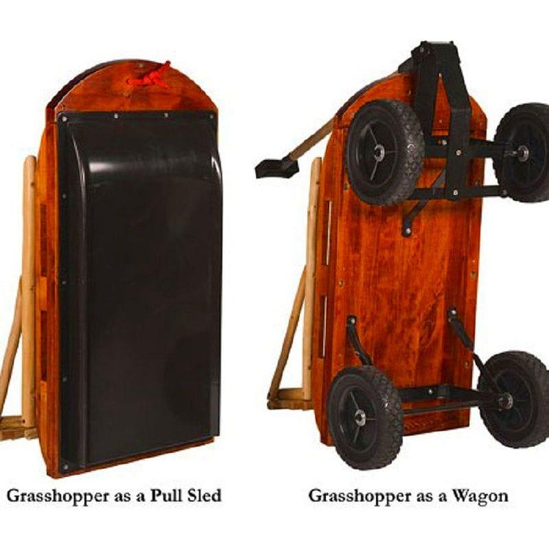 Wagon Sleigh Outdoor Mountain Boy Grhopper Convertible Sled