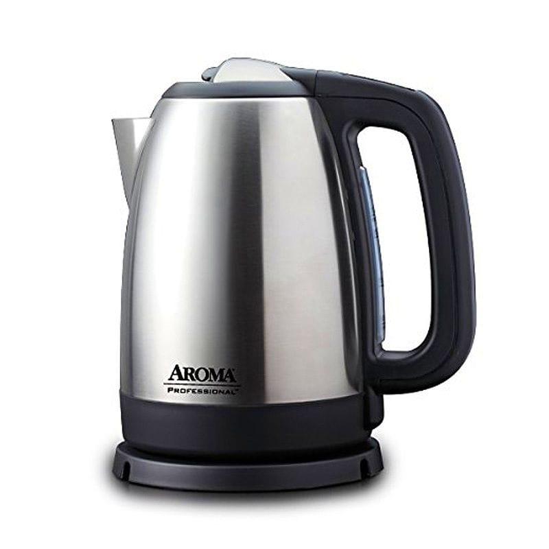 アロマ 電気ケトル デジタル 温度計付 温度調節可能 ステンレス 1.7L Aroma Housewares AWK-299SD Digital Electric Kettle, 1.7 L, Silver 家電