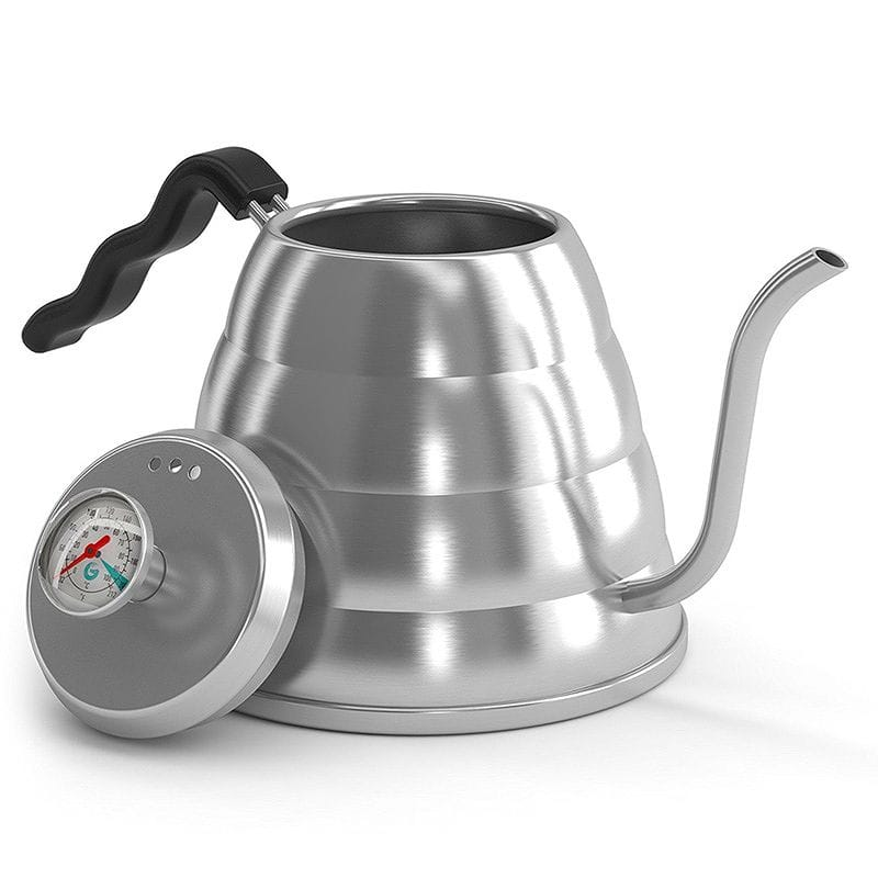 Built-in ケトル Beans 温度計付 - OVER 1L THERMOMETER Kettle Burning Stop グースネック by ハンドドリップPOUR Coffee Coffee Your Gator