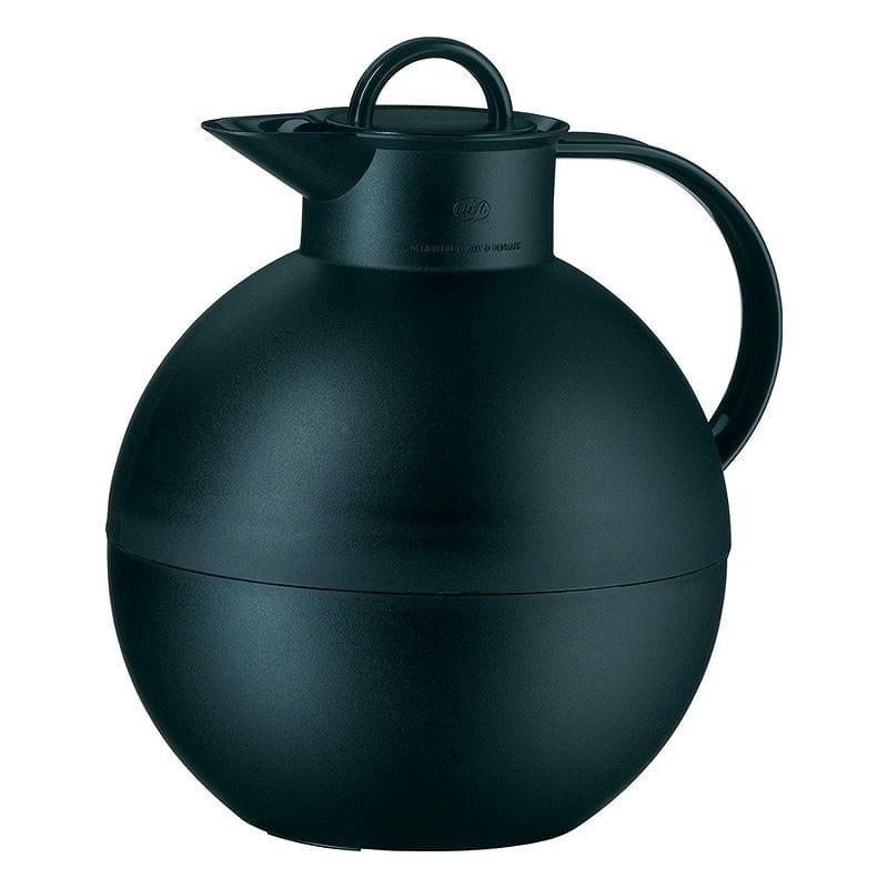 アルフィ クーゲル カラフェ ポット 魔法びん 0.94L ブラック alfi Kugel Glass Vacuum Frosted Plastic Thermal Carafe for Hot and Cold Beverages, 0.94 L, Black