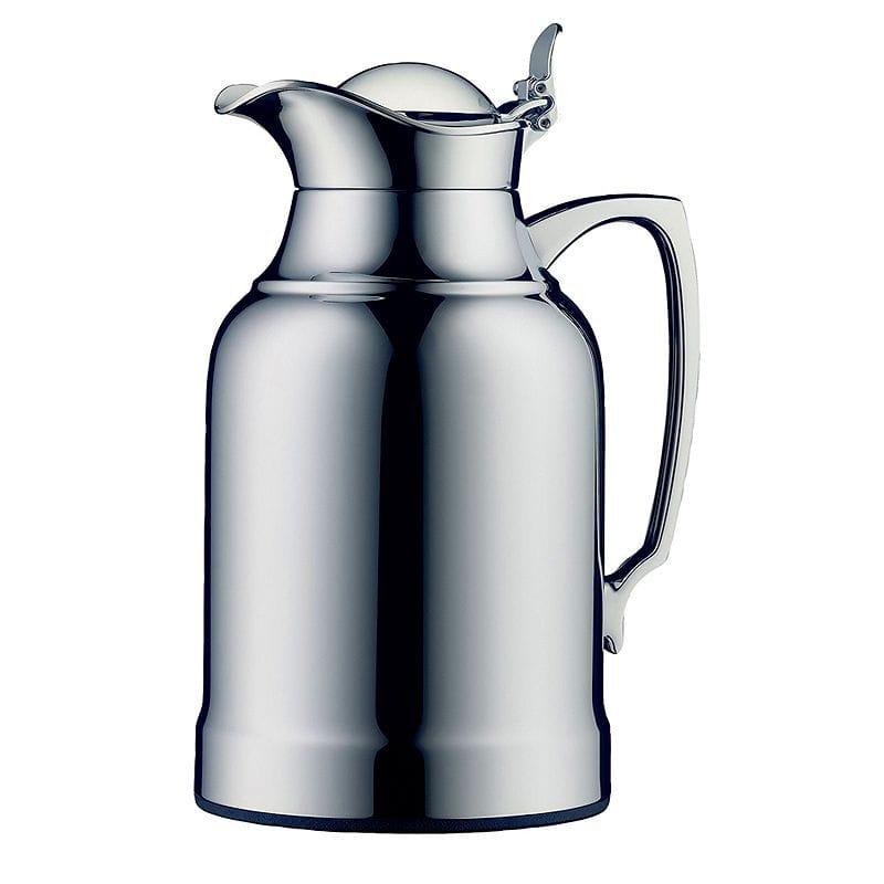 アルフィ オパール カラフェ ポット 魔法びん 1.0L クロム alfi Opal Glass Vacuum Chrome Plated Brass Thermal Carafe for Hot and Cold Beverages, 1.0 L, Chrome