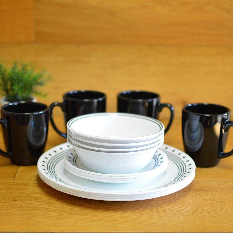 コレール リビングウェアー ディナーウェアー 食器16点セット シティブロック Corelle Livingware 16-Piece Dinnerware Set City Block 1092898
